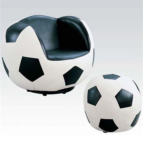 Acme All Star Soccer Swivel Kids Chair With Ottoman In Soccer Swivel Chair