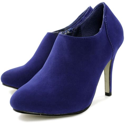 heel boots buy stiletto heel ankle boots blue