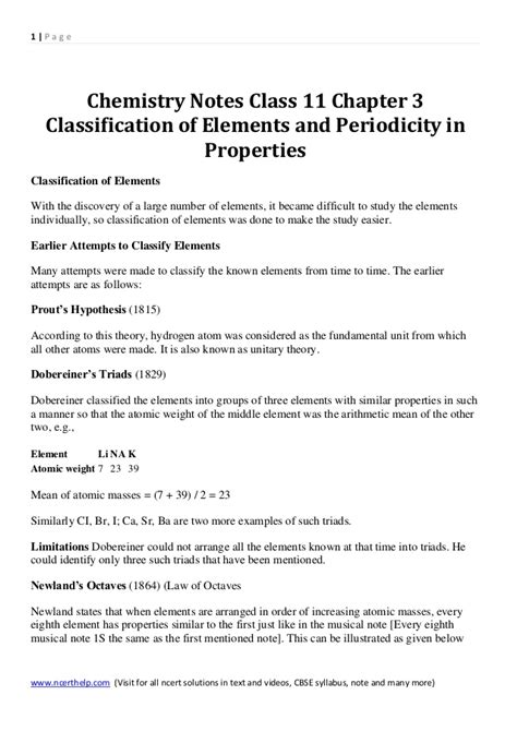 pattern classification chapter 3 solution chemistry notes class 11 chapter 3 classification of