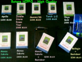 Battery Hippo 9800 Torch fm1 cleopatra