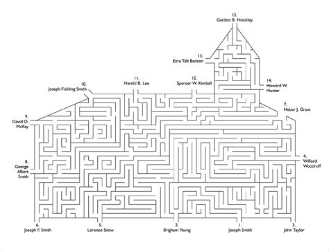 printable lds mazes presidents of the church maze friend