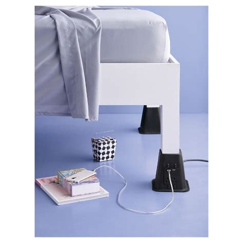 target bed risers usb power bed risers room essentials target