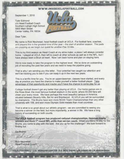 Letter Recruitment Qb Family Letters Of Recruitment Ty Edmond