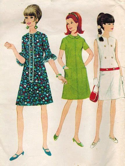 dress pattern in french mccall s 8727 60s french dart dress in three version