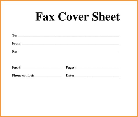 fax template  fax cover sheet template