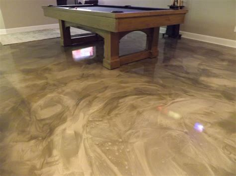 basement flooring options epoxy finish premier concrete coatings columbus ohio decorative