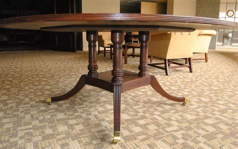 table edition banded mahogany 72 quot diameter center table by baker