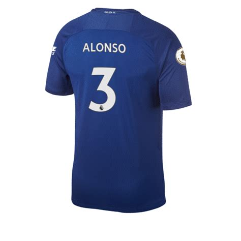 Jersey Bola Marcos Alonso 3 Chelsea Home 2017 2018 Grade Ori chelsea football players shirt numbers 2017 2018