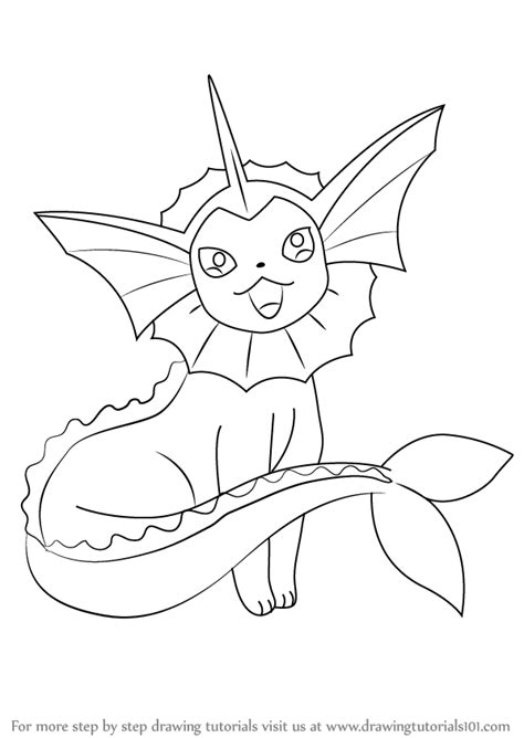 pokemon coloring pages vaporeon learn how to draw vaporeon from pokemon pokemon step by