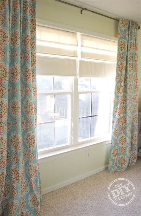 Diy Hidden Tab Curtains With Blackout Fabric The Diy Village Diy Nursery Curtains