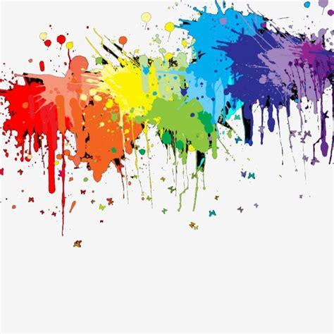 splash color simple color splash pigment simple color splashing png