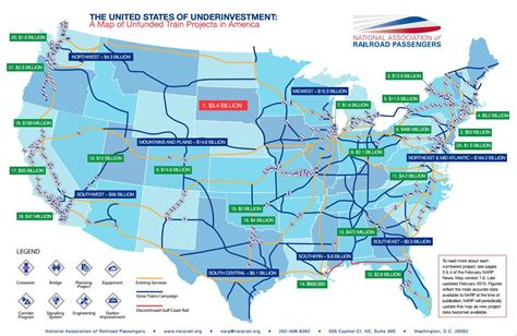 united states rail map the united states of underinvestment rail passengers