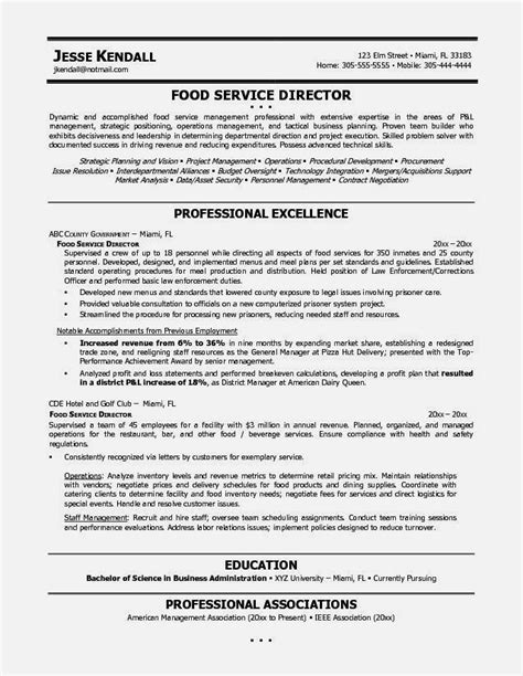 sample resume for a food service position dummies