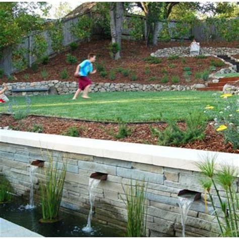 sloped backyard designs 1000 ideas about sloped backyard on pinterest sloped