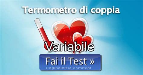 test di coppia risultato test termometro di coppia variabile