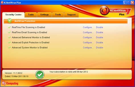 k7 antivirus full version free download crack k7 antivirus plus 11 1 0039