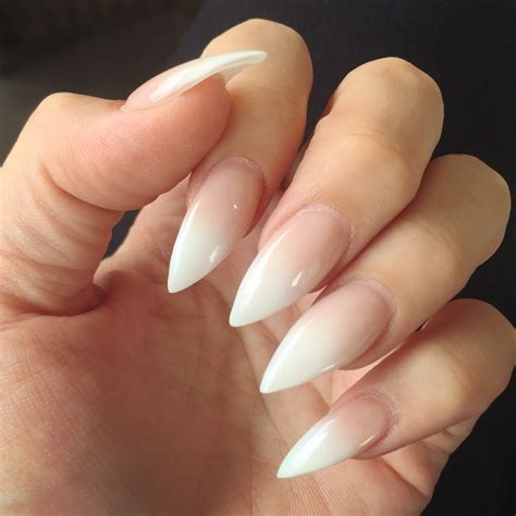 How To Do Ombre Stiletto Nail | ombr 233 french stiletto nails nails pinterest french