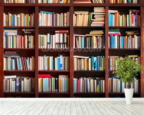 bookcase wallpaper wall mural wallsauce usa