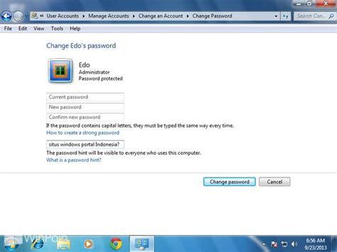 membuat video windows 7 cara membuat password hint di windows 7 winpoin