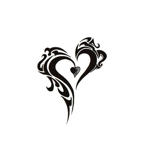 heart tribal tattoo designs new tribal by blakskull on deviantart