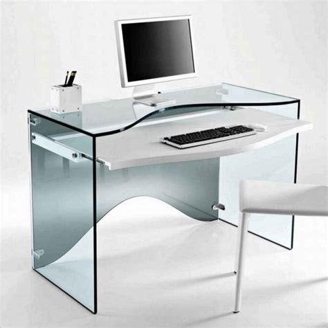 Small And Cheap Wooden Computer Desk With Silver Iron Modern Desks For Small Spaces