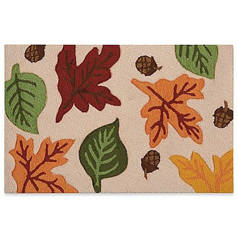 Fall Kitchen Rugs by Nourison Fall Leaf Hook 20 Inch X 30 Inch Kitchen Rug In