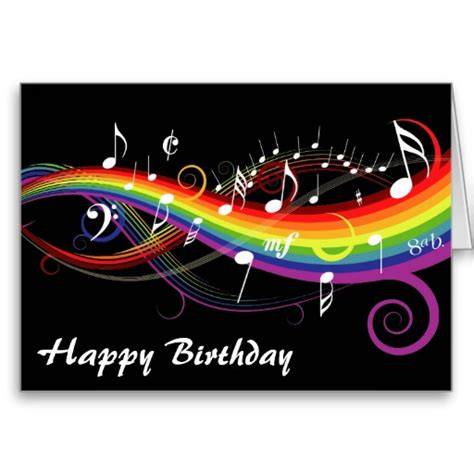 Birthday Musical Cards Rainbow Greetings Free Ecards Printable Greeting Cards