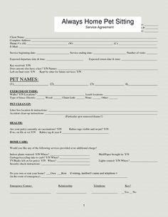 Free Printable Pet Sitter Info Sheet From Haveashley Com Haveashley Com Pinterest Pet Sitter Template