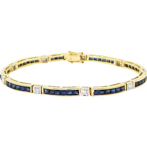 diamond tennis bracelet in 18k white gold 2 blue nile 18k white yellow gold 2 48ct blue sapphire diamond tennis