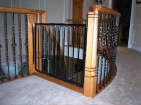 top of stairs baby gate banister stair constructions