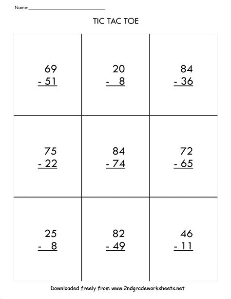 Subtracting With Regrouping Worksheet by Two Digit Subtraction Worksheets