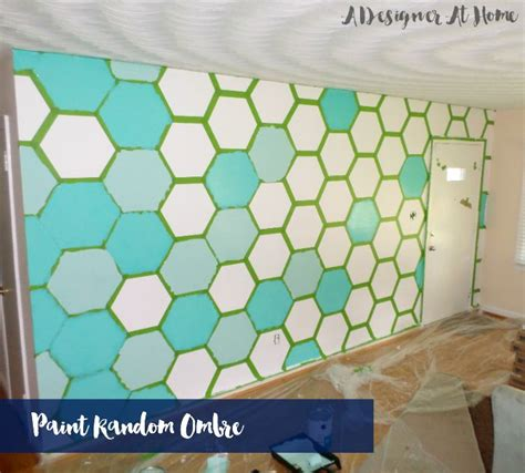 wall pattern with paint how to paint a hexagon patterned wall a designer at home