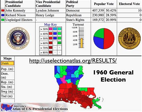louisiana election map 2015 louisiana elections 1960