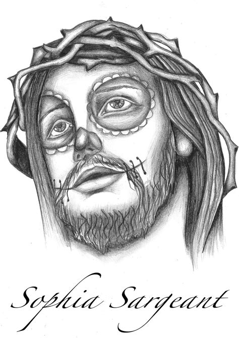 jesus head tattoo designs sugar skull key design 187 ideas