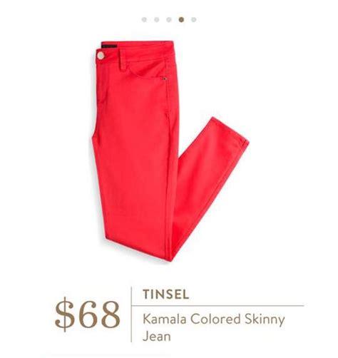 Kamala Coral stitch fix tinsel kamala colored jean still