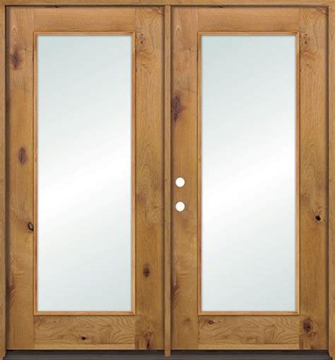 lite knotty alder wood patio doors with low e