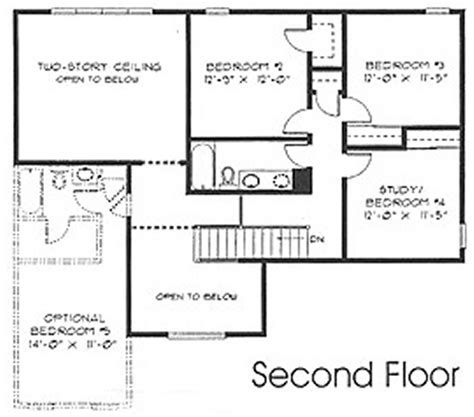 Second Story Floor Plans 1 5 Floorplans