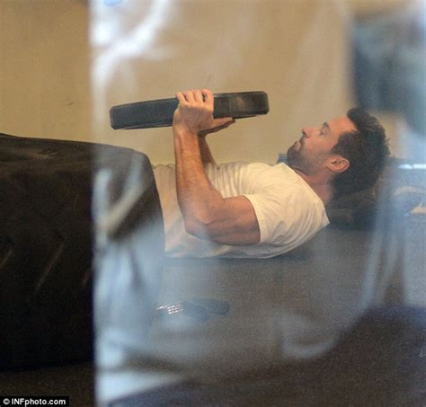 hugh jackman heads to the gym for a gruelling christmas eve workout daily mail online