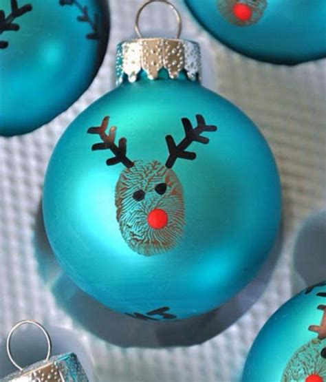 finger print christmas baubles craft ideas pinterest