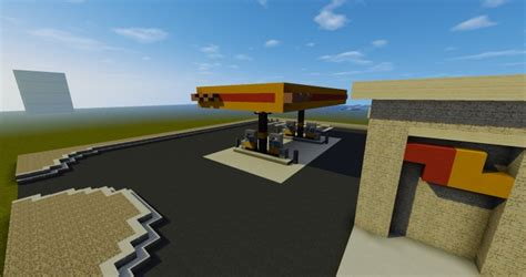 minecraft truck stop love s truck stop realistic build series minecraft project