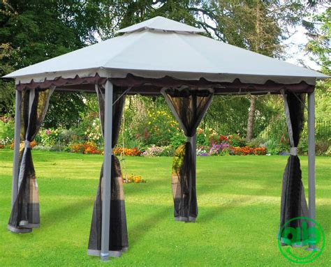 teli giardino gazebo giardino 3x3 mt con telo in poliestere airvent e