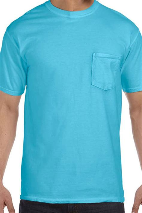 comfort colors pocket tee wholesale shades of blue comfort colors cotton pocket tee 6030
