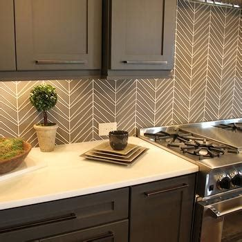 Decor On Top Of Cabinets Geometric Tile Backsplash Design Decor Photos