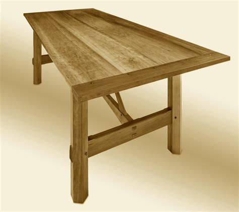 Arts And Craft Dining Table Custom Farm Table Stauffer Woodworking