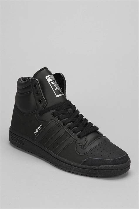 hightop shoes for adidas originals top 10 high top sneaker in black for