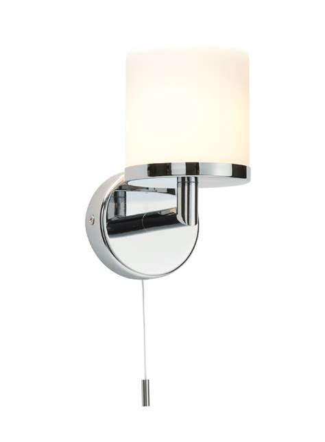 Bathroom Light Switch Cord Saxby Lipco 39608 Bathroom Wall Light Pull Cord Switch Chrome Glass 28w G9 Ebay