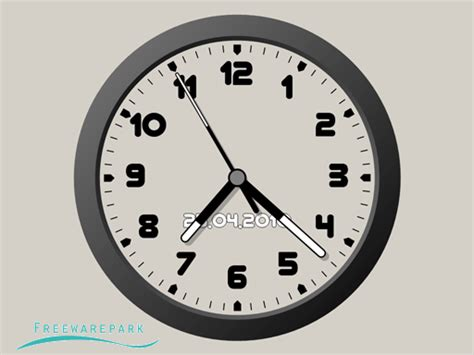clock themes for pc desktop theme clock 7 freeware image