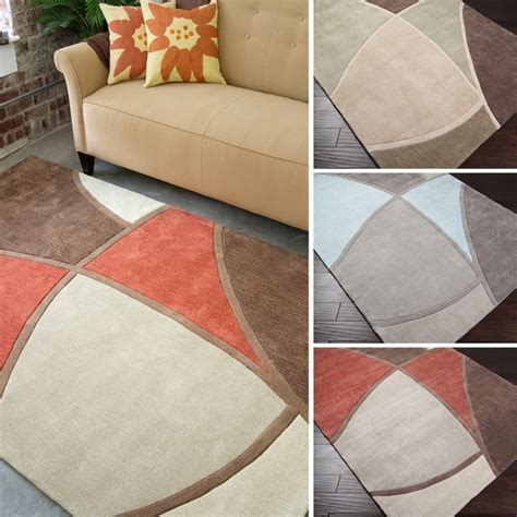 geometric area rugs contemporary tufted abstract geometric contemporary area rug 5 x 8 free shipping today overstock
