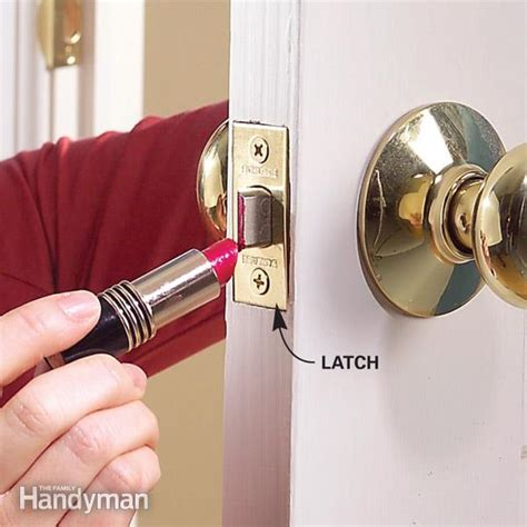 How To Fix A Door Lock by Fix A Door That Won T The Family Handyman