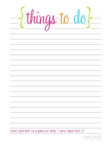 Blank To Do Lists » Home Design 2017